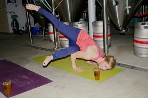 yoga and beer